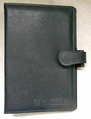 Organiser File Leather CAMBRIDGE UNIVERSITY NEW BLACK STANDARD PERSONAL 25mm D