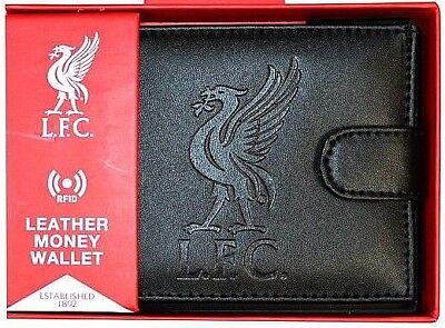 Liverpool FC Official RFID Embossed Leather Wallet SG13831