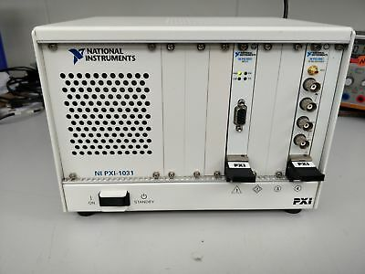 National Instruments NI-PXI-1031 fitted with NI-PXI-4461 and NI PXI-8331