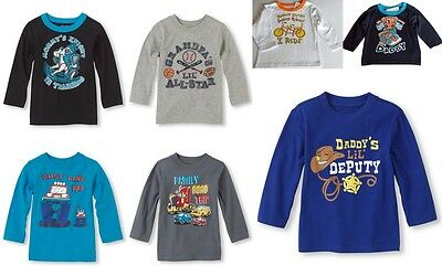 Children's Place Infant/Toddler Boys Assorted Graphic Tees Cotton T-Shirt, 6-24M