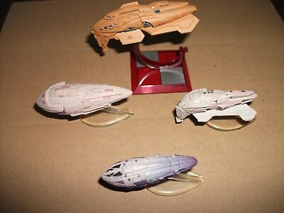 4 x Star Trek, Micro Machines, Sammlung, Kazon Raider, Fighter und Mother Ship
