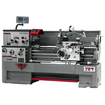 JET GH-1640ZX Large Spindle Bore Lathe w/ Newall DP700 DRO & Taper Attachment