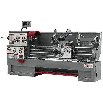 JET GH-1660ZX Large Spindle Bore Lathe With ACU-RITE 300S DRO & Collet Closer
