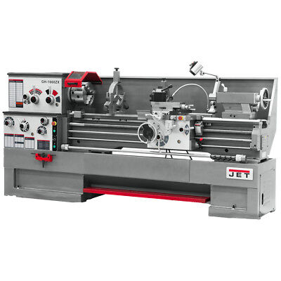 JET GH-1860ZX Large Spindle Bore Lathe With ACU-RITE 200S DRO & Taper Attachment