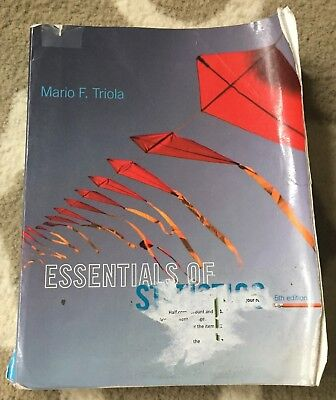 Essentials of statistics by mario f triola 2013 5th edition essentials of statistics by mario f triola 2013 paperback 5th edition preowned fandeluxe Choice Image