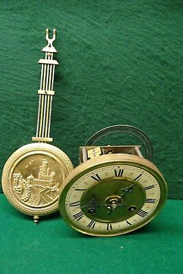 8 Day Junghan`s B05  Vienna Style Clock Movement With Pendulum.