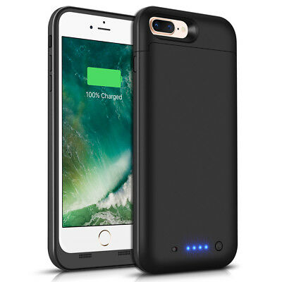 Ultra Slim 7000mAh Extended Charging Battery Case Cover for iPhone 8 Plus Phone