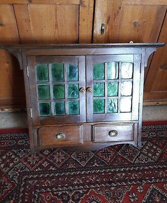 Antique Arts And Crafts Wall Cabinet C.1900