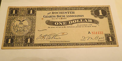 1933 Rochester Clearing House Association $1 Note