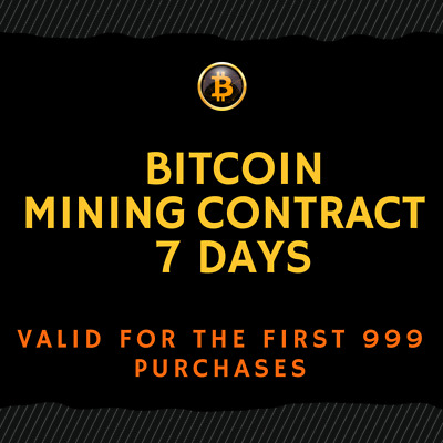 7 day - BITCOIN (BTC) Mining Contract (TOP CRYPTO OFFER)