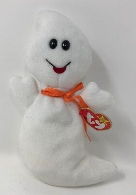 Vintage! 1995 TY Beanie Baby SPOOKY Halloween GHOST Retired DOLL w/ TAGS Beanbag