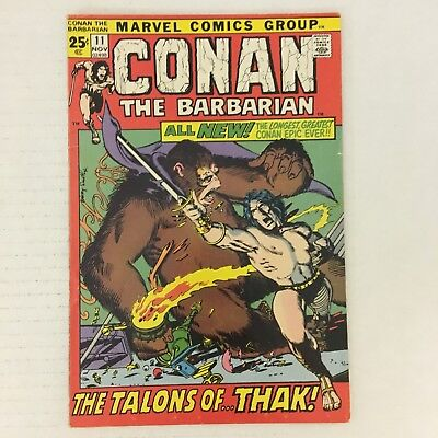 CONAN THE BARBARIAN #11 Marvel Comics 1971 Barry Windsor-Smith Red Sonja VG/FN!!