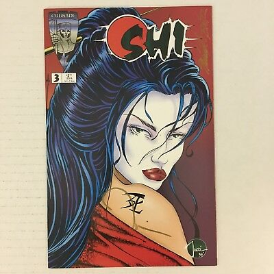 SHI: WAY OF THE WARRIOR #3 Tucci SIGNED w/ Lithograph & COA Crusade 1994 NM!!!
