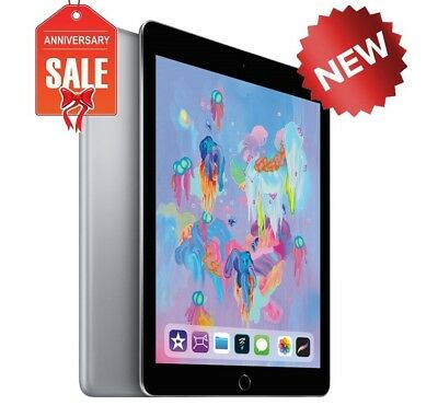 NEW Apple iPad 6th 2018 - 32GB, Wi-Fi + AT&T (GSM Unlocked), 9.7in - Space Gray