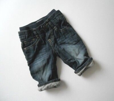 Children's Place Lined Baby Jeans w Waistband Boy's Size 6-9 Months Stone Wash