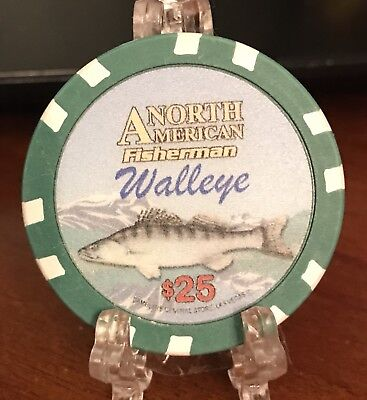 North American Fisherman Walleye $25 Collectible Poker Chip