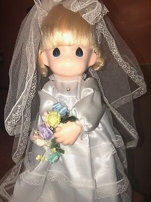New Precious Moments Doll Rare Giant Size Bride Wedding Gown