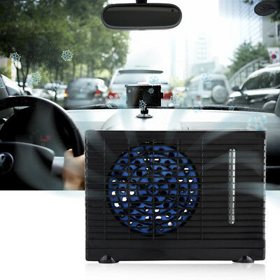 12V Portable Evaporative Mini Air Conditioner Home Car Water Cooler Cooling Fan