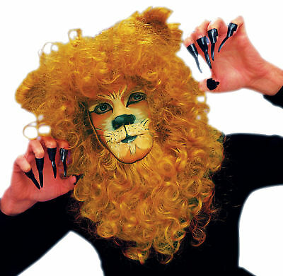 Lion Mane Hair Piece Animal Face Mask With Elastic Strap Halloween