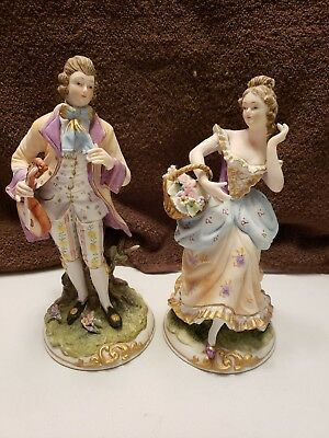 Andrea by Sadek Vicorian Man And Woman Figurines
