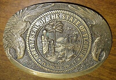 State of Florida Solid Brass Belt Buckle - First Edition
