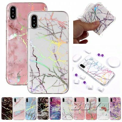 For iPhone Phone case Marble Patterns Cover Colourful Protective skins Soft TPU
