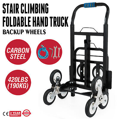 Portable Stair Climbing Cart 420 Lbs Capacity Hand Truck with Backup Wheels