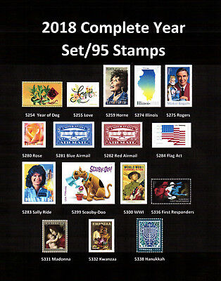 2018 Complete Commemoritive year set (95 Stamps) - MNH