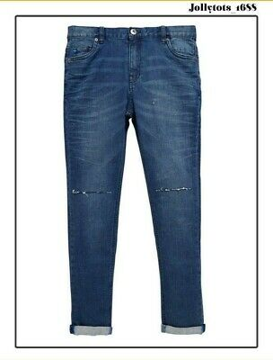 Quality Boys Vintage Wash Super Skinny Jeans Size 8 & 13 Years RRP £19