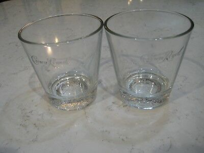 CROWN ROYAL WHISKEY Drinking COLLECTOR\'S GLASSES SET OF 2 ...