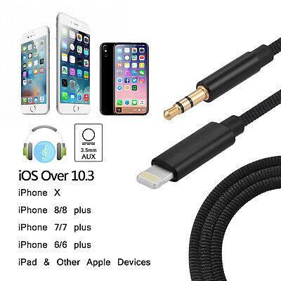 2in1 Lightning Adapter Headphone Jack Splitter Audio Cable For iPhone X 8 7 Plus