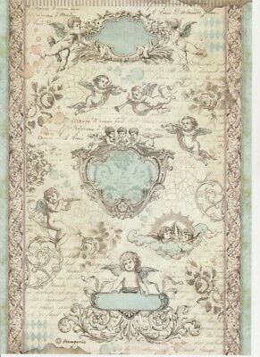 Rice Paper - Baroque angels - for Decoupage Scrapbook Craft