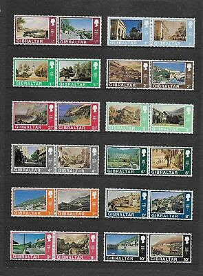 1971 Gibraltar Views Definitive Series In Pairs Mnh U/m Complete