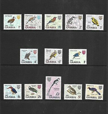 1966 Gambia Bird Definitive Series Mnh U/m Complete