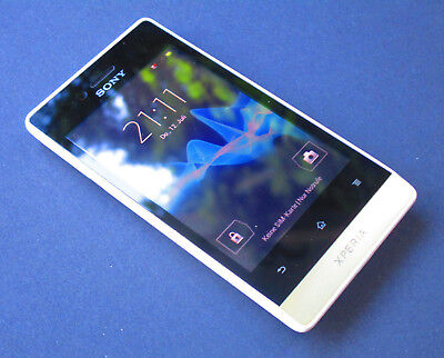 Sony  Xperia miro ST23i - 4GB - Smartphone in den Farben Weiss/Gold