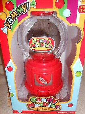 Yummy Candy gumball vending machine no coin required New in box red plastic 3+