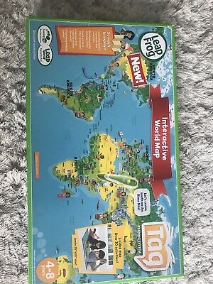 Leapfrog tag interactive world map 2 sided learning path leap frog lot of 2 leap frog tag interactive maps world map united states map gumiabroncs Gallery