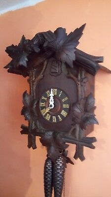 large antique cuckoo clock working order