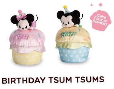 "Disney Store Birthday Minnie And Mickey 2017 Tsum Tsum Plush Mini 3 ½"" Scented"