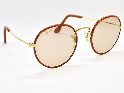 6121174807 ... reduced 90s bl ray ban round metal leathers changeable photochromic  w0779 sunglasses b4ca2 0df64