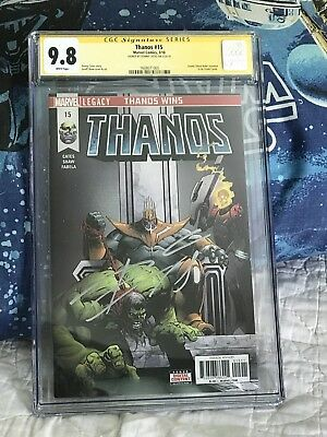 THANOS 15 CGC SS 9.8 SIGNED By DONNY CATES COSMIC GHOST RIDER ORIGIN