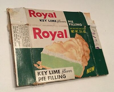 VINTAGE 1950's JELL-O Box Royal Key Lime General Store Advertising Food Pudding