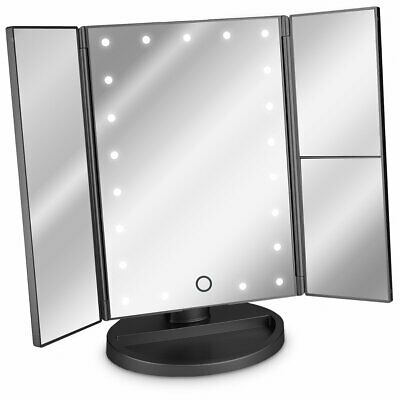 Make Up Cosmetic Mirror Dimmable Light 3x Magnifier Touch Screen 180° Rotation