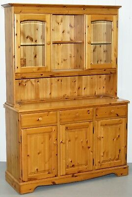 Made In England Ducal Glass Shelved Welsh Dressers Display Bookcases Cabinet