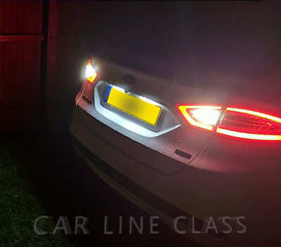 2x T15 W16W Bulbs LED White Reverse Bright 12smd Canbus Ford Mondeo MK5 2012-on
