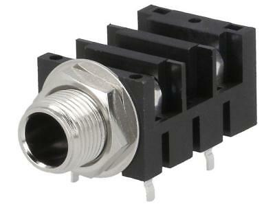 ACJM-MHDRM Socket Jack 6,35mm female mono with double switch angled