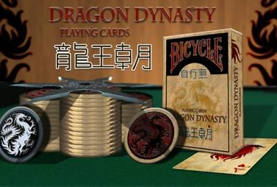 Bicycle Playing Cards Dragon Dynasty Rare Limited Authentic Oriental Deck USPCC$