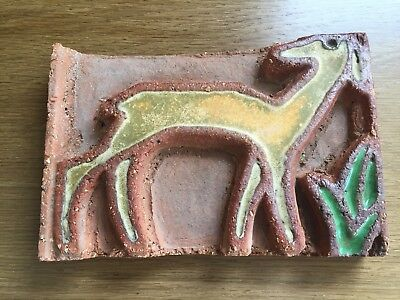 Rare Enfield or Moravian Tile, American Art Pottery tile Arts and Crafts Mission