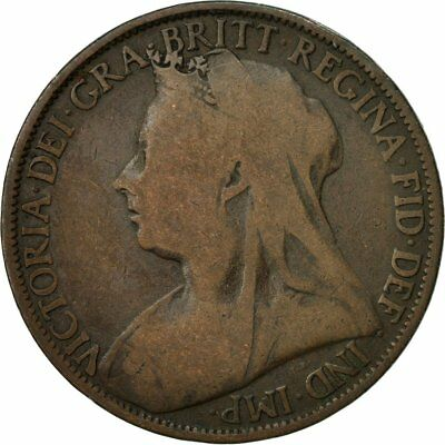 [#437045] Coin, Great Britain, Victoria, Penny, 1896, VF(20-25), Bronze, KM:790