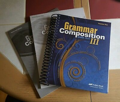 Abeka 9th Grade Grammar And Composition Iii Set Of 3 Books Current